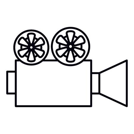 Cine, película, cámara, icono, vector, ilustración, diseño Foto de archivo - 79308431