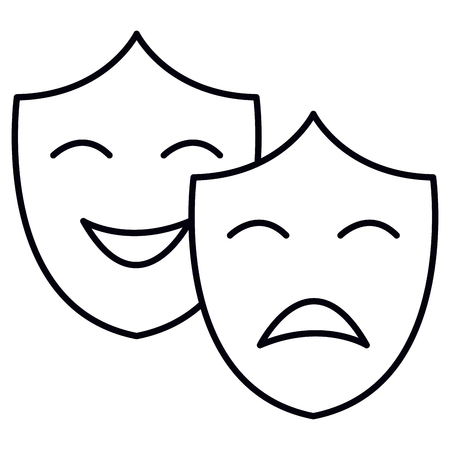 theater masks isolated icon vector illustration design