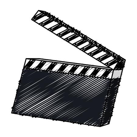 clapper board cinema icon vector illustration design Stok Fotoğraf - 79308548