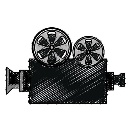 Cine, película, cámara, icono, vector, ilustración, diseño Foto de archivo - 79308558