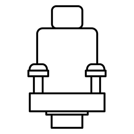 映画館の椅子分離アイコン ベクトル イラスト デザイン
