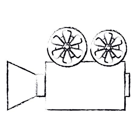 Cine, película, cámara, icono, vector, ilustración, diseño Foto de archivo - 79308482