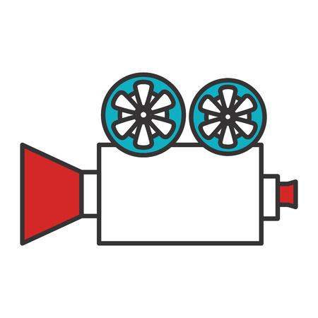cinematograph: cinema film camera icon vector illustration design