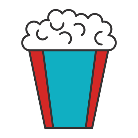 pop corn: pop corn cinema food vector illustration design
