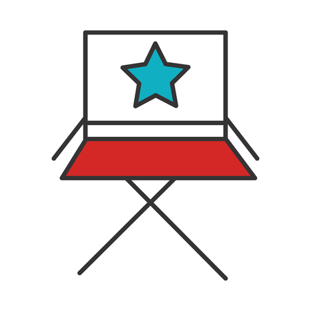 director chair isolated icon vector illustration design Çizim