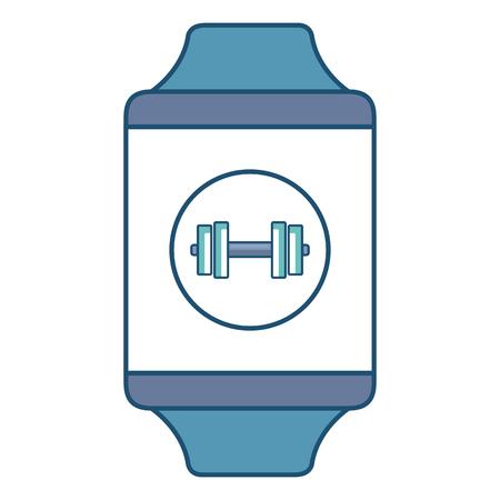 smartwatch device with sport app vector illustration design Stock Vector - 79308578