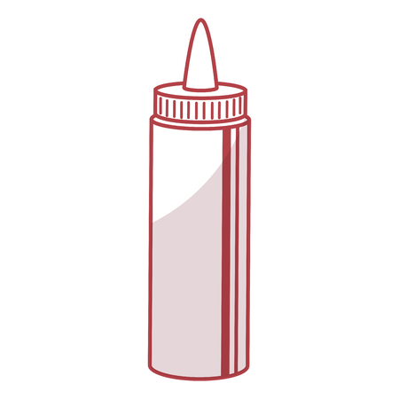 sauce bottle isolated icon vector illustration design Çizim