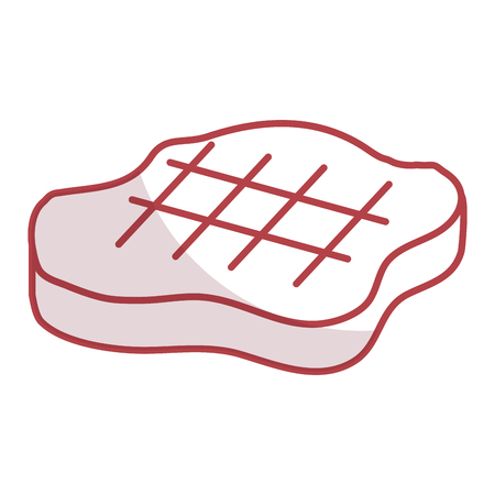 cut beef meat icon vector illustration design