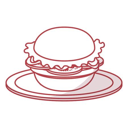 delicious hamburger fast food vector illustration design