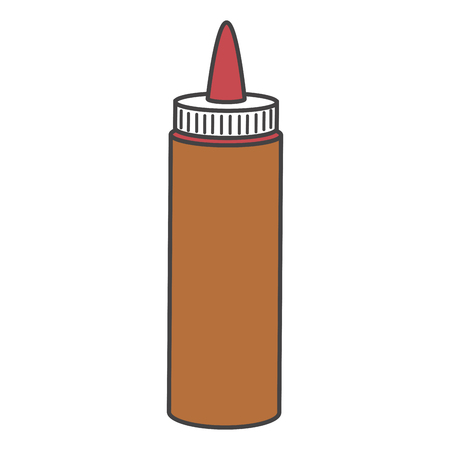 sauce bottle isolated icon vector illustration design Ilustração