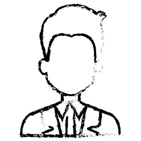 Elegante hombre de negocios avatar carácter ilustración vectorial diseño Foto de archivo - 79315636