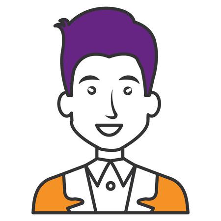 elegant businessman avatar character vector illustration design Banco de Imagens - 79315760
