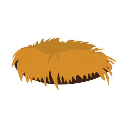 Empty bird nest icon vector illustration graphic design