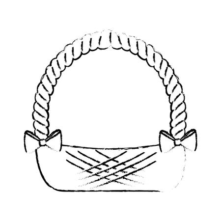 Leeg paasmand pictogram vector illustratie grafisch ontwerp Stock Illustratie