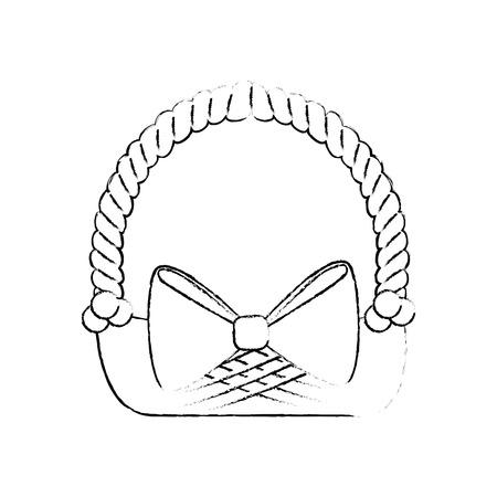 Empty easter basket icon vector illustration graphic design