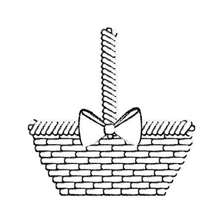 空イースター バスケット アイコン ベクトル イラスト グラフィック デザイン