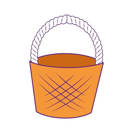 空イースター バスケット アイコン ベクトル図のグラフィック  イラスト・ベクター素材