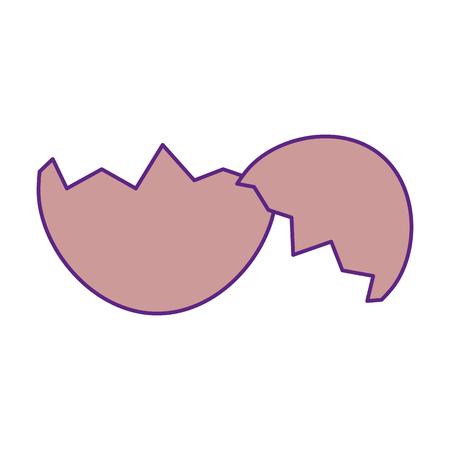 卵の殻分離記号アイコン ベクトル イラストレーション グラフィック  イラスト・ベクター素材