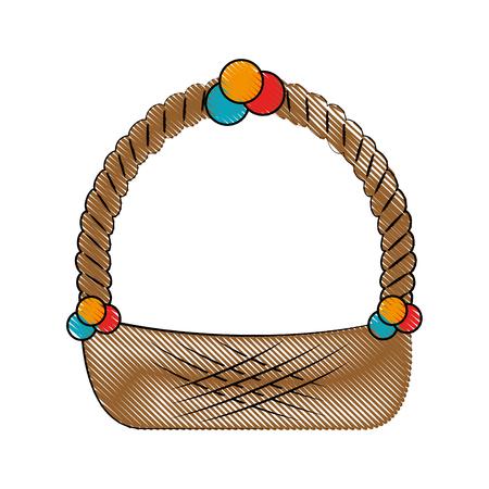 Empty easter basket icon vector illustration graphic Illustration