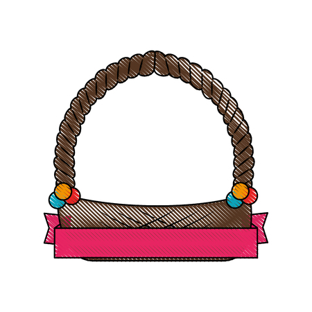 Empty easter basket icon vector illustration graphic Ilustrace