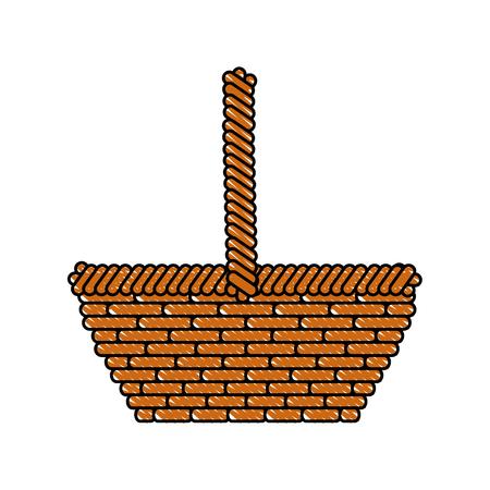 Lege Pasen-grafische grafiek van het mandpictogram