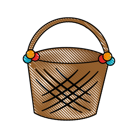 Empty easter basket icon vector illustration graphic Çizim