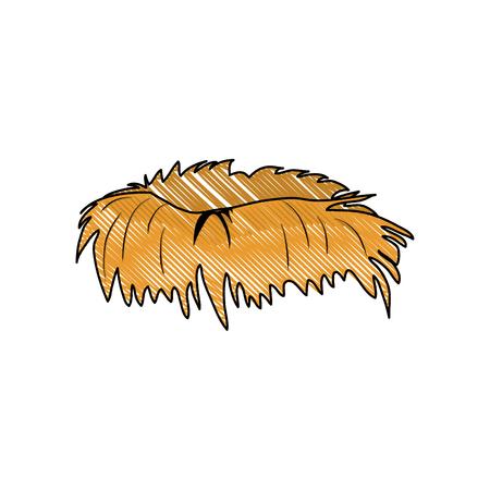 Bird nest symbol icon vector illustration graphic