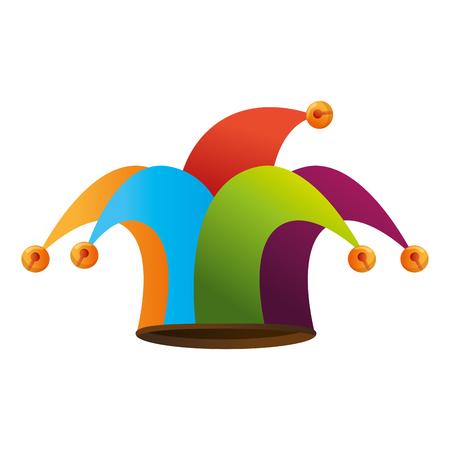Diseño gráfico del icono del accesorio del sombrero del bufón Foto de archivo - 79338039