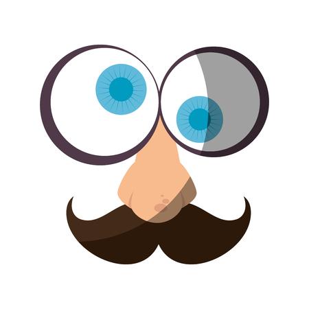 Visage de bande dessinée de gras visage 3d illustration vectorielle conception graphique Banque d'images - 79338084
