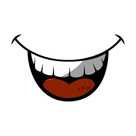 Mund lachen Cartoon-Symbol Vektor-Illustration Grafik-Design