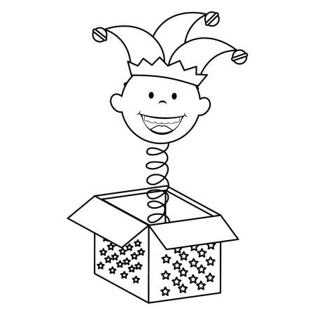 Jack in der Box-Symbol Vektor-Illustration Grafik-Design Vektorgrafik