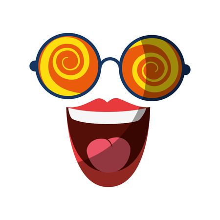 April fools day cartoon face icon vector illustration graphic design 向量圖像