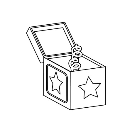 Jack in the box empty icon vector illustration graphic design