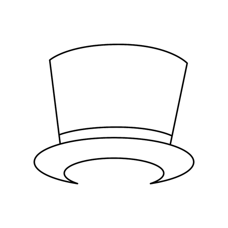 Magician hat accesory icon vector illustration graphic design. Illustration