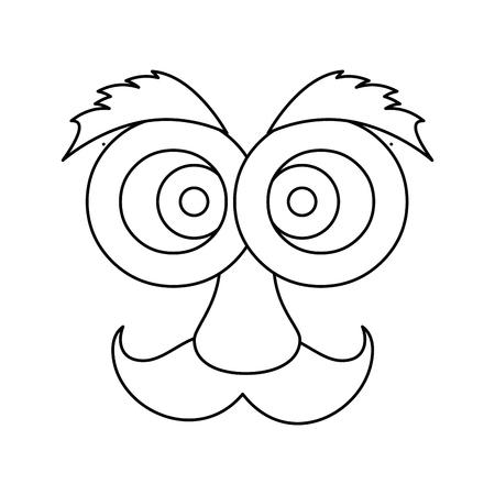 April fools day cartoon face icon illustration vectorielle design graphique Banque d'images - 79338290
