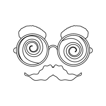 April fools day cartoon face icon illustration vectorielle design graphique Banque d'images - 79338294