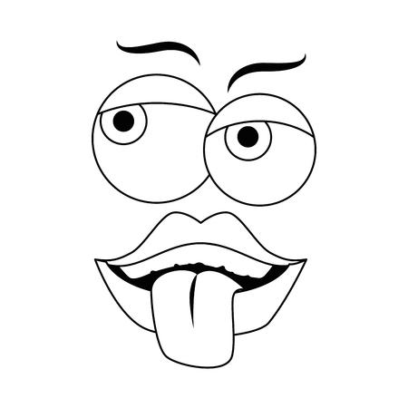 Caricature de jour de poisson d'avril visage icône vector illustration graphisme Banque d'images - 79338293