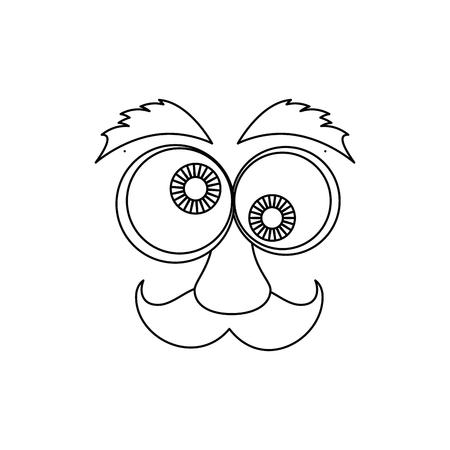 4 월 바보 하루 만화 얼굴 아이콘 벡터 일러스트 그래픽 디자인