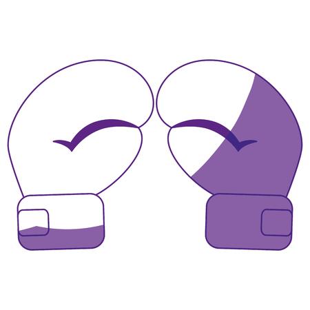 Boxing handschoenen accesory pictogram vector illustratie grafisch ontwerp