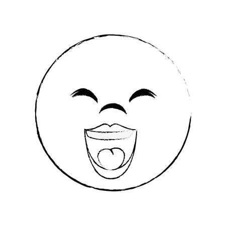 Visage de bande dessinée de gras visage 3d illustration vectorielle conception graphique Banque d'images - 79338755