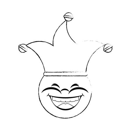 Caricature de jour de poisson d'avril visage icône vector illustration graphisme Banque d'images - 79338777