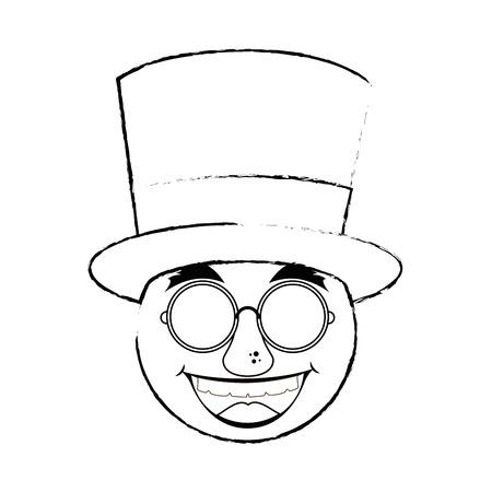 Visage de bande dessinée de gras visage 3d illustration vectorielle conception graphique Banque d'images - 79338778