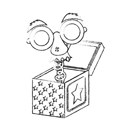 Jack in the box icon vector illustration graphic design