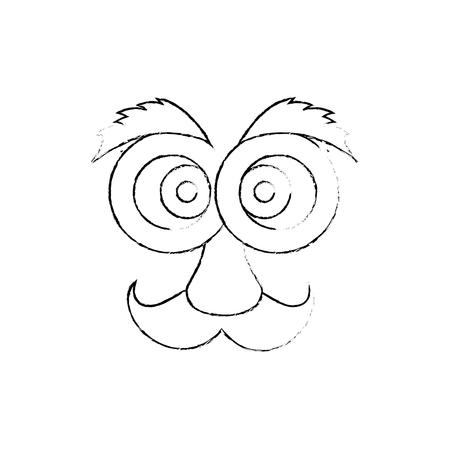 pranks: April fools day cartoon face icon vector illustration graphic design Illustration