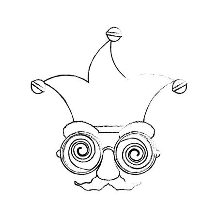 Jester clown cartoon icon vector illustration graphic design Stock Vector - 79339103