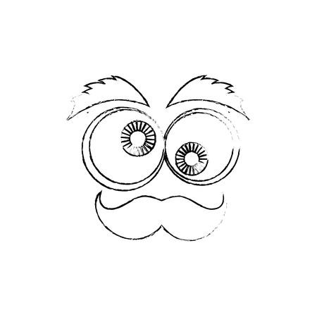 April fools day cartoon face icon illustration vectorielle design graphique Banque d'images - 79339110