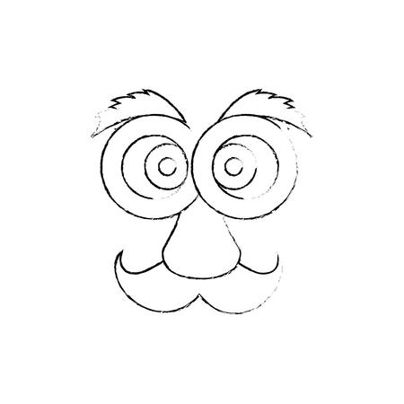 Visage de bande dessinée de gras visage 3d illustration vectorielle conception graphique Banque d'images - 79339115