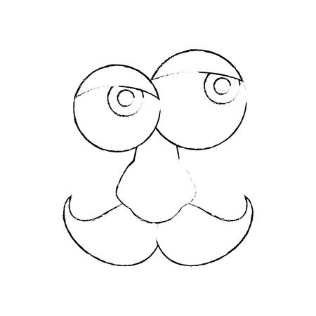 hapiness: April fools day cartoon face icon vector illustration graphic design Illustration