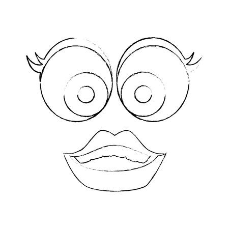 April fools day cartoon face icon vector illustration graphic design Illustration