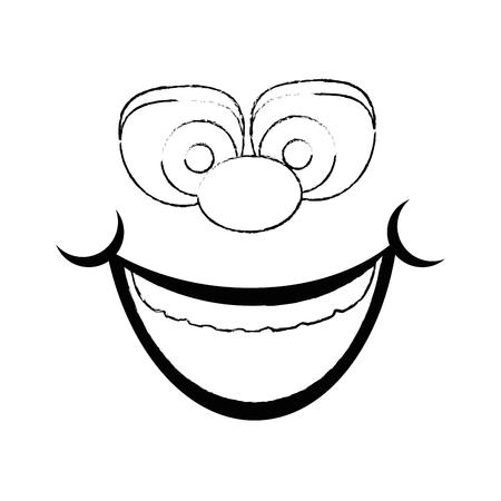 Visage de bande dessinée de gras visage 3d illustration vectorielle conception graphique Banque d'images - 79339241